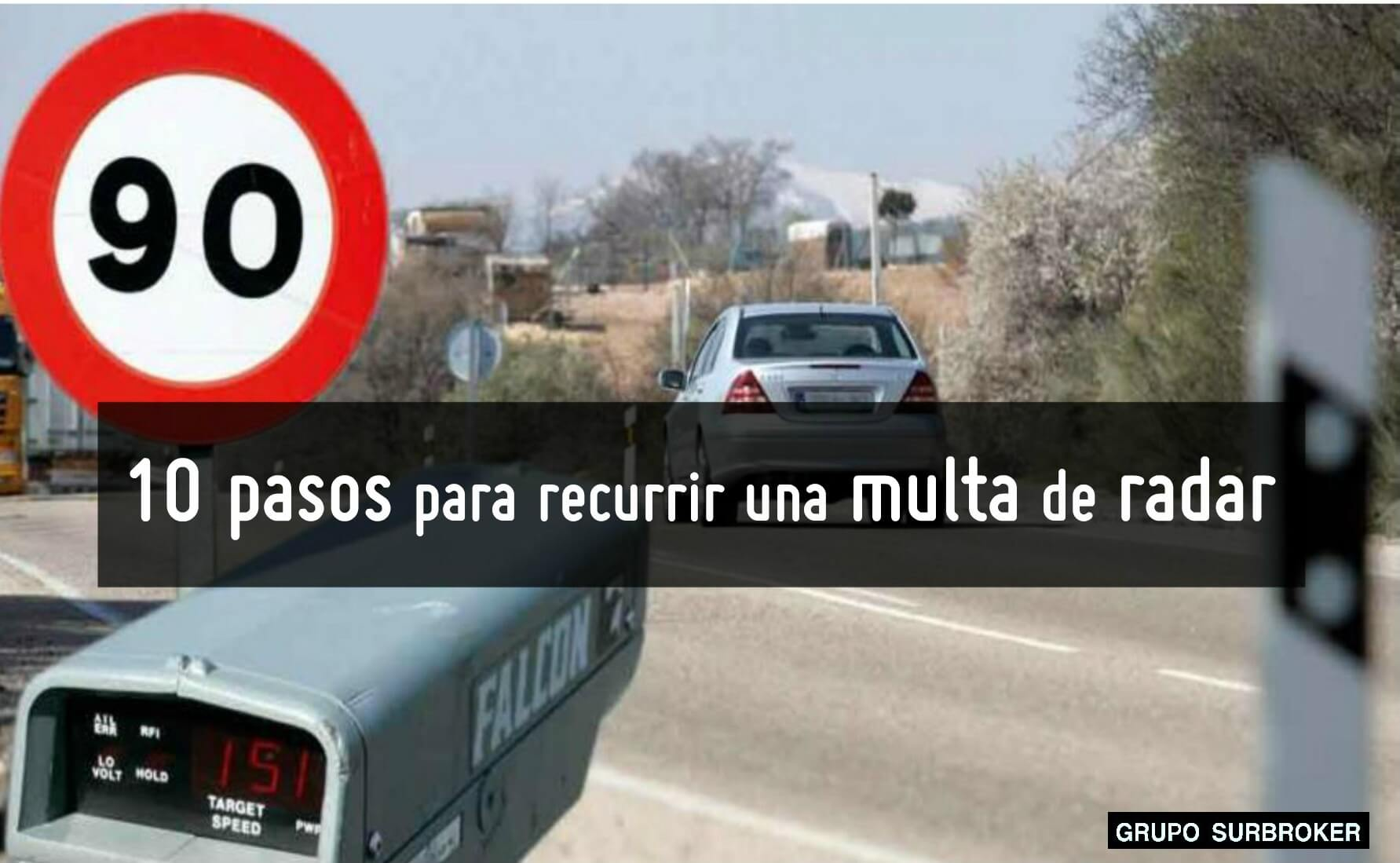 Recurrir multas de radar