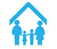 Icono sobre familia protegida